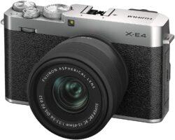 富士フイルム ミラーレスデジタルカメラ FUJIFILM X-E4 レンズキット シルバー